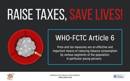 A SEATCA graphic for World No Tobacco Day 2014.