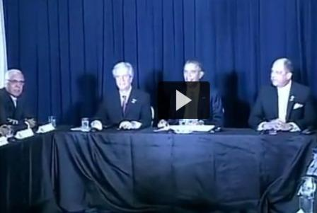 FCA Regional Coordinator Eduardo Bianco, far left. Taken from news video.