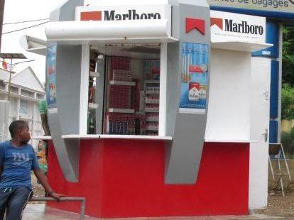 Cigarette kiosk in Senegal