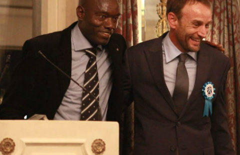 Laurent on the right is the FCA's ambassador.